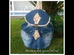 (5) Mochila jeans feita de calça - YouTube