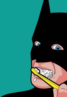 Ungewohnte Szenen: Grég Guillemins Post-Pop Bilder zeigen Komikhelden im Privatleben.