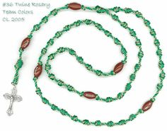 Football five decade rosary made with #36 rosary twine.