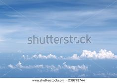 Background with blue sky - stock photo