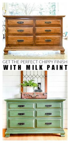 How to Get A Chippy Look with Milk Paint