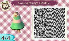Este es un QR Code para Animal Crossing, creado por mí; como podéis observar, es un conjunto veraniego de color verde. [4-4]  Lo podéis encontrar en mi canal de YouTube: https://www.youtube.com/channel/UCh6uwa2CjSgR4WQ-ghRQY6Q (Roxy).  ¡Espero que os guste! ;)
