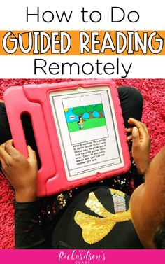 , 4 Practical Steps to Teaching Guided Reading Remotely , This guide will help you teach guided reading remotely to move students forward in reading. This post has tips for teachers and parents and free print. Guided Reading Strategies, Guided Reading Lessons, Guided Reading Activities, Teaching Reading, Teaching Kindergarten, Reading Bingo, Reading Notes, Reading Help, Child Teaching