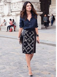 Stylish&chic pencil skirt outfit