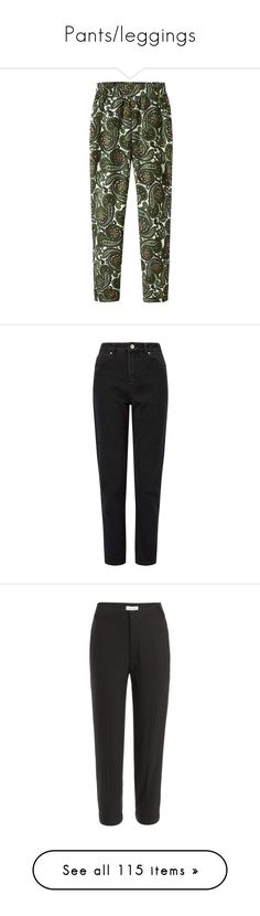 """Pants/leggings"" by tacoxcat ❤ liked on Polyvore featuring pants, bottoms, trousers, jeans, women, high waisted tapered trousers, vintage high waisted pants, evening pants, high-waisted trousers and wool trousers"