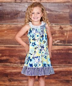 Loving this Turquoise & Lime Confetti Dress - Infant, Toddler & Girls on #zulily! #zulilyfinds