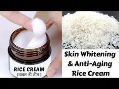 DIY Rice Cream | Skin Whitening & Anti-Aging Rice Cream | Japanese Fairness & Spotless Skin Secret - YouTube #BestFaceSerum Fairness Cream, Skin Secrets, Skin Tips, Whitening Face, Lighten Skin, Homemade Skin Care, Homemade Facials, Homemade Beauty, Skin Cream