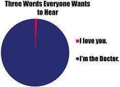 and 7 words that I would die to hear. I'm the doctor and I love you