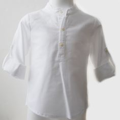 Camisa cuello mao oxford blanco