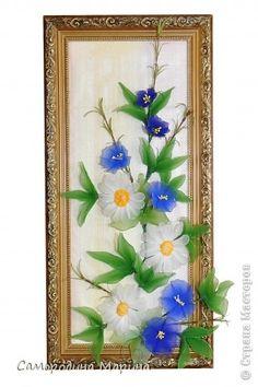 Картина, панно: Полевые цветы, полевые цветы, навсегда завладели вы сердцем моим... Капрон 8 марта, Выпускной, День матери, День рождения, День семьи