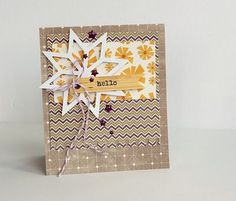 Hello card by Sarah Webb featuring Jillibean Soup Sew Sweet Sunshine Soup and Owloween Stew