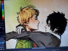 Your source for everything solangelo. Solangelo Fanart, Percabeth, Percy Jackson Fan Art, Percy Jackson Fandom, Son Of Hades, Perfect Sisters, Trials Of Apollo, Magnus Chase, Short Comics