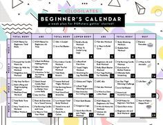 A Workout Calendar for Beginners There are so many options out there – so many programs – so many trainers – so many gadgets! So, today I am going to share with you all the resources you need to simply, well, start! strongest, happiest version of yo Blogilates Beginner Calendar, Workout Calender, Exercise Calendar, Fitness Calendar, Flat Abs Workout, P90x Workout, Free Workout, Pilates Workout, Workout Routines