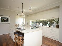 kitchen with window splashback