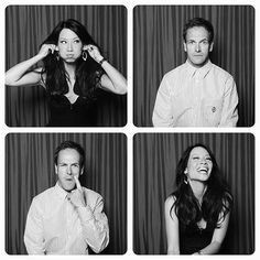 Johnny Lee Miller Lucy Liu; Sherlock Homes and Watson!! <3
