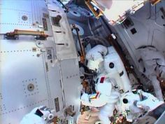 This July 16, 2013 NASA TV image shows International Space Station(ISS) Italian astronaut Luca Parmitano as seen by the camera m