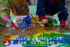 Learning by easel painting