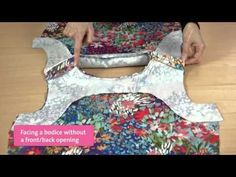 This short video tutorial is to demonstrate how to sew the facings to the bodice around the armholes in two separate steps. As described in Pattern A of Femi...