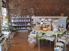Soap shop interior