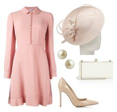 """""""Untitled #59"""" by dresslikearoyal on Polyvore featuring RED Valentino, John Lewis, Carolee, Gianvito Rossi and Jimmy Choo"""
