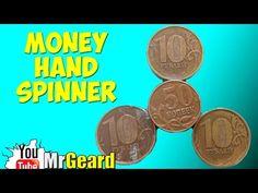 How to make homemade handspinner toy. DIY money spinner. Easy fidget toy - YouTube