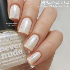 Introducing Never Nude: My piCture pOlish Collaboration Shadeby Will Paint Nails for Food Picture Polish, Colorful Nail Designs, Elegant Nails, Food Pictures, Nail Colors, Swatch, Nail Polish, Nail Art, Nude