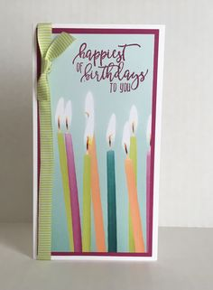 Everything you need to make quick and easy birthday cards can be purchased in my online Stampin' Up! store! stampwithct.stampinup.net