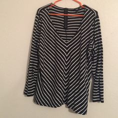 Striped black and white blouse. Good condition Mossimo Supply Co Tops Blouses