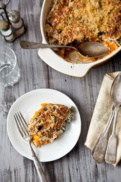 winter greens + squash gratin • tartelette