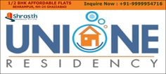 Unione residency offers 1/2 bhk apartment in Ghaziabad at very competitive price. Unione residency located at Behrampur NH-24, Ghazibad. This poject is based on a theme where all the apartments get the park view as they positioned on a centrally green.