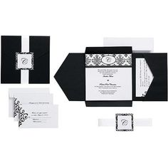 Wilton Scroll Monogram Pocket Invitation Kit