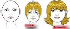 Corte de pelo y peinado según la forma del rostro. Rostro redondo.