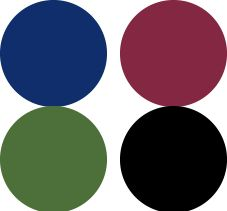 Royal Blue and Wine Deep Winter Color Palette