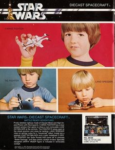 Star Wars Diecast Spacecraft Toy Ad