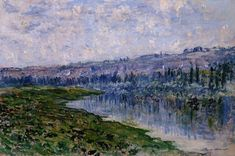 "claudemonet-art: ""The Seine and the Chaantemesle Hills, 1880 Claude Monet """