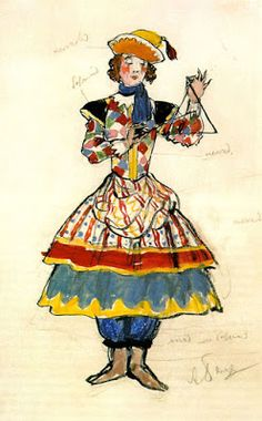 TICMUSart: Street Dancer. Costume design - Alexandre Benois (... (I.M.)