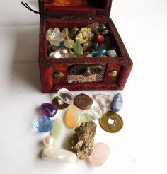 #Childrens pirates wooden treasure chest #fools gold #gemstones jewels coins pear,  View more on the LINK: http://www.zeppy.io/product/gb/2/391534298039/