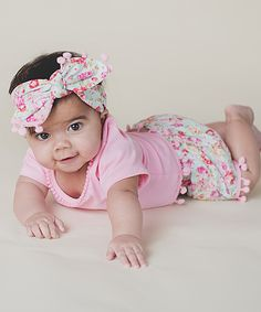 Look what I found on #zulily! Just Couture Pink Bubble Shorts Set - Infant & Kids by Just Couture #zulilyfinds