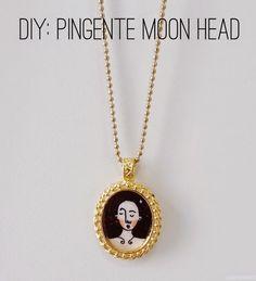 Papoulas douradas: DIY: Pingente Moon Head (com o meu desenho)