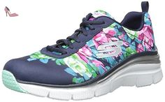 Skechers Fashion Fit Navy Floral Womens Trainers Shoes-3 - Chaussures skechers (*Partner-Link)