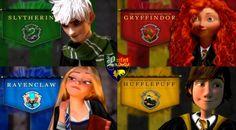 (Fan art) Merida, Rapunzel, Jack et Hiccup - The Big Four