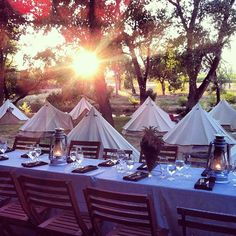 Doing this!! Fancy camping dinner party!