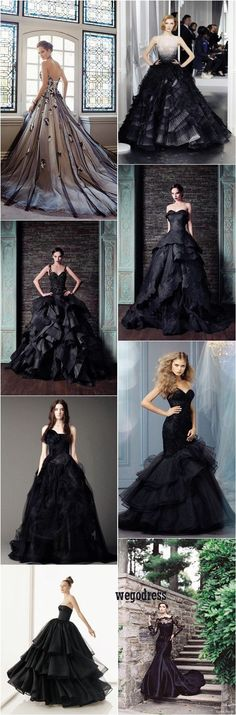 black wedding dress More