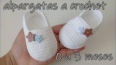 alpargatas a crochet - bebe-0 a 3 meses - YouTube