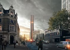 PLP Architecture has revealed plans to build a high-rise housing block in London's Stratford, containing homes modelled on student accommodation