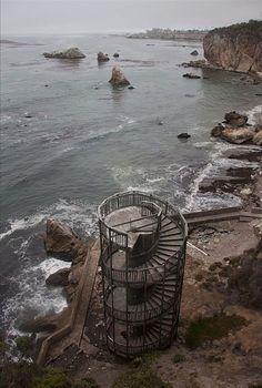 Staircase to nowhere, Pismo Beach, California