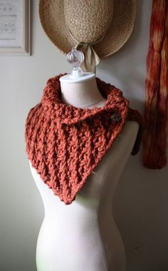 Hand Knit Cowl Shoulder Warmer / Asterisque / Rustique by phydeaux, $85.00