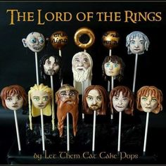 These have to be among the most beautiful cake pops I've ever seen! Kudos to Steph from Let Them Eat Cake Pops for creating such detailed cake pops, which unfortunately, will probably end their lives in someone's belly. [Source: Let Them Eat Cake Pops Cupcakes, Cupcake Cakes, Beautiful Cakes, Amazing Cakes, Hobbit Cake, Ring Cake, Second Breakfast, Party Rings, Novelty Cakes