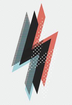 Lighting Strikes | Exhibition Poster by Jordan Reading, via Behance