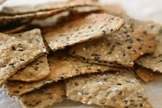 Sesame Spelt Crackers. yummy! Want to try with caraway and garlic